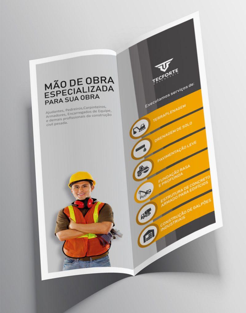 Folder Tecforte Engenharia - Criattivo