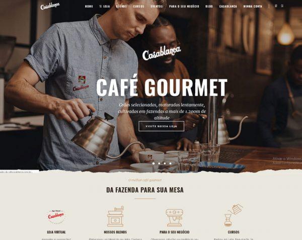Desenvolvimento de Site e E-commerce Café Casablanca
